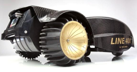 Ambrogio L400 Elite med store hjul for godt grep bilder